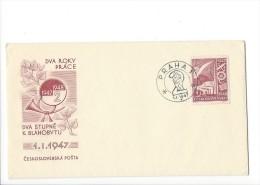 11705 - FDC DVA ROKY PRACE 1947-1948 2 Praha 01.01.1947 - FDC