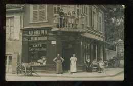 P2015/02/15  Lyon 59 Rue De Cuire, Carte Photo Café Au Bon Vin L.Revol - Autres