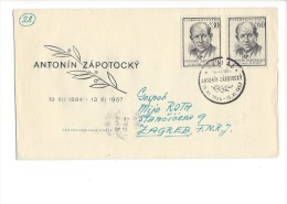 11707 - FDC Antonin Zapotocky 13.11.1957 Circulé Pour Zagreb - FDC