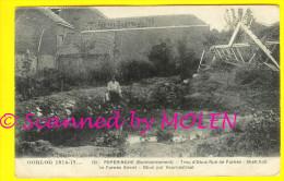 OBUS PUT BOMBARDEMENT VEURNESTRAAT tijdens OORLOG 1914-18 te POPERINGE - Uitg SANSEN-VANNESTE ru�ne 2001