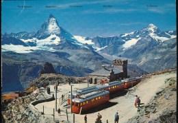 Zermatt -- Station Gornergrat 3130 M - Eisenbahnen