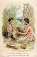 """LES """"RACES HUMAINES"""" OCEANIE JEUNES FILLES DE L'ARCHIPEL DE TONGA + PUBLICITE AU DOS  ANTISEPTIQUE  SOLUTION PAUTAUBERGE - Tonga"""
