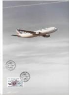 AVION AIR FRANCE  - Salon International De L´Aéronautique LE BOURGET - 15 Juin 1987 - Timbre Philatélique - 1946-....: Moderne