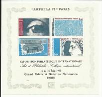 "Bloc Feuillet N° 7 , Exposition Philatélique Internationale "" Arphila 75 "" , 1975 , Côte YT : 10 € - Ungebraucht"