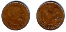 MALAWI, Republic - 1 Tambala 1979 Bronze - KM#7.2XF - Malawi