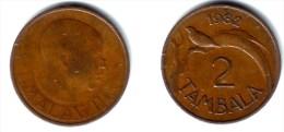 MALAWI, Republic - 2 Tambala 1982 Bronze - KM#8.2XF - Malawi
