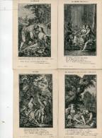 CONTES(LA FONTAINE) NUE(4 CARTES) - Fairy Tales, Popular Stories & Legends