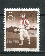 """China,Chine,Cina 1959 Mi.Nr. 487 """"10-Jahres-Feier Der Pionier-Organisation,Pionier Schulweg"""" SEE SCAN""""1 Wert,used,gestp. - Oblitérés"""