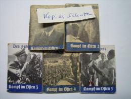 WHW-Reichsstrassensammlung, Des Chef´s Kampf Im Osten, Tieste 302-306, Komplette Serie! - 1939-45