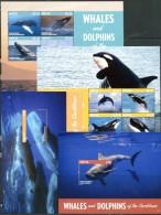 ANTIGUA 2015 MARINE LIFE WHALES DOLPHINS FULL SET MNH ** - Marine Life