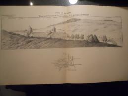 25 FORT ST ANTOINE METABIEF JOUGNE ECOLE SUPERIEURE DE GUERRE CROQUIS CARTE DE GEOGRAPHIE LIEUTENANT THURIET - Documents