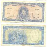 Chile 1/2 Escudo 1962, Firma III Pk 134 Aa.2  Ref 323-3 - Chile