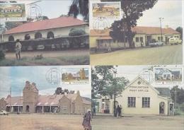Transkei 1983 Post Office Buildings 4v 4 Maxicards (19429) - Transkei