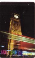 SUISSE PREPAID MULTICARDS MONUMENT BIG BEN LONDON LONDRES 10 CHF UT