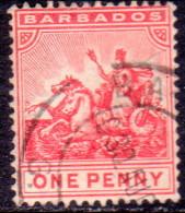BARBADOS 1905 SG #137 1d VF Used Wmk Mult Crown CA - Barbades (...-1966)