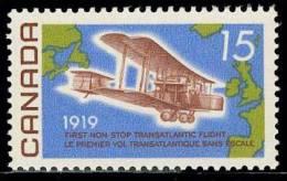 Canada (Scott No. 494 - Premier Vol Transatlantique Sans Escale / First Non Stop Transatlantic Flight) [**] - 1952-.... Règne D'Elizabeth II