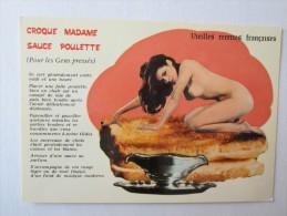 NU FÉMININ SEINS NUS ÉROTIQUE ÉROTISME FEMME NUE CHARME Croque Madame Sauce Poulette Vieilles Recettes Françaises - Pin-Ups