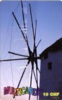 SUISSE PREPAID MULTICARDS  GREECE MOULIN MILL GREC  10 CHF UT