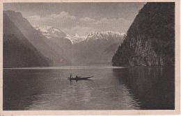 AK Der Königssee - Stempel Salet-Alpe - Schöner Poststempel Traunstein 2 - 1922 (12134) - Berchtesgaden