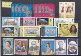 LOT  JERSEY   OBLITERES     MERITE INTERET  COTE  230€ - Collections (sans Albums)