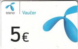 MONTENEGRO - Telenor Prepaid Card 5 Euro, Exp.date 20/12/15, Used