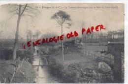 62 - FRUGES - LA TRAXENE PITTORESQUE  SUR LE PONT DU SAINT ESPRIT - TRAIN - Fruges