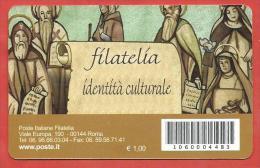 TESSERA FILATELICA ITALIA - 2009 - Radici Cristiane Dell'Europa - Europa E Croce - € 0,60 - 6. 1946-.. Republik
