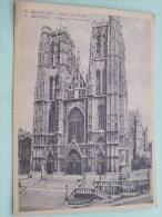 Eglise St. GUDULE ( 8 ) Formaat 13,5 X 18,5 Cm. ( Zie Foto Details ) !! - België