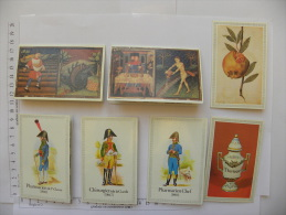 7 Petits Calendriers ANGERS (49) Maine Et Loire - Pharmacie Tricaud, 87 Bld St Michel - 1985/87/88/89 - Petit Format : 1991-00