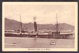 MX38) Manzanillo - Vapor En La Bahia - Ship At Dock - Mexiko