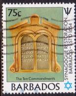 BARBADOS 1987 SG #847 75c VF Used Restoration Of Synagogue. Judaica - Barbados (1966-...)