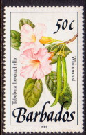 BARBADOS 1989 SG #897 50c MLH Wild Plants Imprint 1989 - Barbades (1966-...)
