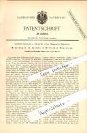 Original Patent - Julius Braun In Mratin B. Mieschitz / Mesice , 1884 , Dynamo-elektrische Maschine !!! - Böhmen Und Mähren