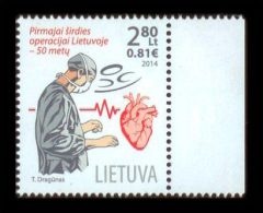 LITHUANIA 2014 - Cardiac Surgery - Mi 1171, YT 1024 - Non Classificati