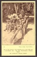 PN6) Papua - Man Making A Canoe - Orokaiva Tribe - Oro Bay - Papoea-Nieuw-Guinea