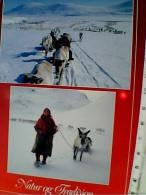 NORGE RAGAZZA GIRL E RENNE   STAMP SCOIATTOLO 400 VB1990  ER14090 - Norvegia