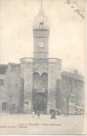 MANOSQUE PORTE SOUBEYRAN CPA ANIMEE CIRCULEE 1904 A MARIA CALVO DE PEREZ BUENOS AIRES L'ARGENTINE RARE CIRCULATION - Manosque