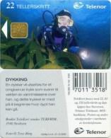 Telefonkarte Norwegen - Tauchen,diving - N-142 4/99 - Norwegen