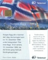 Telefonkarte Norwegen - Norwegische Flagge,Fahne -  N-118 5/98 - Norwegen
