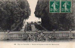 CPA VERSAILLES - PARC - BASSIN DE NEPTUNE ET ALLEE DES MARMOUSETS - Versailles (Château)