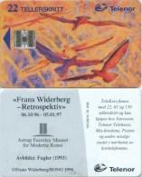 Telefonkarte Norwegen - F. Widerberg - Birds - Gemälde,painting  -  N-78 9/96 - Norwegen