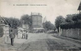 Cpa VILLERS SUR MER 14 Entrée De L' Avenue De La Gare - ( Aujourd'hui Avenue De La Brigade Piron ) - Villers Sur Mer