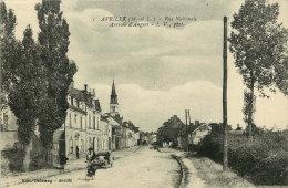 AVRILLÉ  Rue Nationale Arrivée D'Angers  Animée, Cycliste, Auto  Non écrite - Other Municipalities