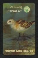 United Arab Emirates UAE Prepaid Card Used Phonecard Communication Tele Telephone  Birds Bird Animal - Emirats Arabes Unis