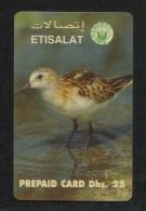 United Arab Emirates UAE Prepaid Card Used Phonecard Communication Tele Telephone  Birds Bird Animal - Birds