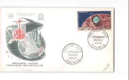 12904 FDC NOUVELLE CALEDONIE NOUMEA TELECOMMUNICATIONES SPATIALES 1962 - FDC
