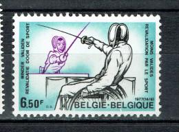 BELGIUM  BELGIE BELGUIQUE  1977 FENCING HANDICAPS HANDICAP - Handicap