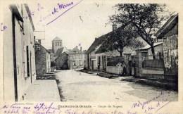 77- CHALAUTRE-la-GRANDE- Route De Nogent- Animée - Andere Gemeenten