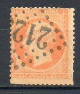 FRANCE - 1862 - Second Empire - Napoléon III - N° 23a - 40 C. Orange Clair - (Oblitération Losange Gros Chiffres) - 1862 Napoleone III