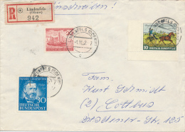 LINDENFELS - 1952 , Philipp Reis , Helgoland , Thurn & Taxis - Nach Cottbus - Briefe U. Dokumente